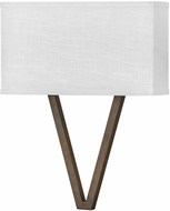 Hinkley 41504WL Vector Contemporary Walnut LED Wall Lighting Sconce