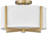 Hinkley 41706HB Axis Contemporary Heritage Brass LED Flush Mount Light Fixture