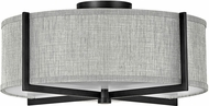 Hinkley 41707BK Axis Contemporary Black LED Flush Mount Lighting Fixture