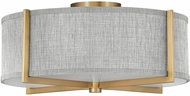 Hinkley 41707HB Axis Modern Heritage Brass LED Flush Ceiling Light Fixture