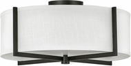 Hinkley 41708BK Axis Contemporary Black LED Flush Mount Ceiling Light Fixture