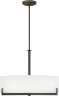 Hinkley 4236OZ Hayes Oil Rubbed Bronze 27  Drum Pendant Lighting