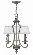 Hinkley 4243PL Plymouth Polished Antique Nickel Mini Hanging Chandelier