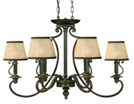 Hinkley 4245OB Plymouth Bronze 6 Light Traditional Chandelier