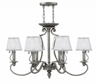Hinkley 4245PL Plymouth Polished Antique Nickel Chandelier Light
