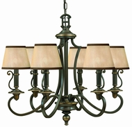 Hinkley 4246OB Plymouth Bronze 3 Light Traditional Chandelier