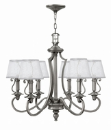 Hinkley 4246PL Plymouth Polished Antique Nickel Chandelier Lighting