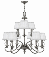 Hinkley 4248PL Plymouth Polished Antique Nickel Lighting Chandelier