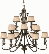 Hinkley 4249OB Plymouth Bronze 15 Light Traditional Chandelier