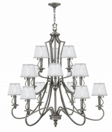 Hinkley 4249PL Plymouth Polished Antique Nickel Chandelier Lamp