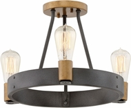 Hinkley 4263DZ Silas Contemporary Aged Zinc / Heritage Brass Ceiling Lighting Fixture