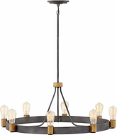 Hinkley 4268DZ Silas Modern Aged Zinc / Heritage Brass Lighting Chandelier