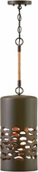 Hinkley 4287OZ Calder Contemporary Oil Rubbed Bronze / Heritage Brass Mini Pendant Light