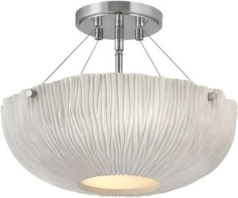 Hinkley 43203SHW Coral Modern Shell White / Polished Nickel Ceiling Light Fixture