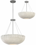 Hinkley 43208SHW Coral Contemporary Shell White / Polished Nickel Pendant Lamp / Ceiling Lighting Fixture