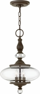 Hinkley 4323OZ Wexley Oil Rubbed Bronze 12  Lighting Pendant