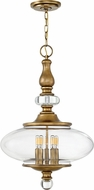 Hinkley 4325HB Wexley Heritage Brass 18 Hanging Lamp