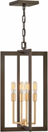 Hinkley 4344MM Anders Contemporary Metallic Matte Bronze / Deluxe Gold 18  Entryway Light Fixture