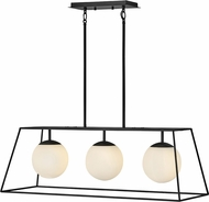 Hinkley 4376BK Jonas Modern Black Island Lighting