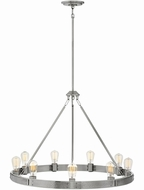 Hinkley 4398BN Everett Modern Brushed Nickel Ceiling Chandelier