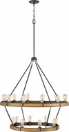 Hinkley 4399BZ Everett Contemporary Bronze / Heritage Brass Chandelier Light
