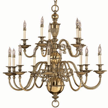 Hinkley 4417bb Cambridge Br 15 Light 2 Tier Candle Chandelier Hin