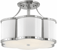 Hinkley 4444PN Chance Contemporary Polished Nickel LED Overhead Lighting Fixture