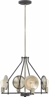 Hinkley 4534DZ Boyer Modern Aged Zinc Mini Lighting Chandelier