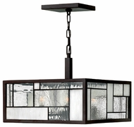 Hinkley 4571KZ Mondrian Art Glass Pendant Light/Semi-Flush Ceiling Light