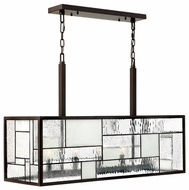 Hinkley 4575KZ Mondrian Art Glass Kitchen Island Light