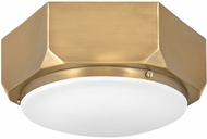 Hinkley 4581WS Hex Contemporary Warm Brass Ceiling Light Fixture