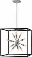 Hinkley 46314BLK-PN Aros Modern Black with Polished Nickel Foyer Lighting