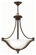 Hinkley 4652OB-OPAL Bolla Olde Bronze Finish 23.25  Wide Drop Lighting