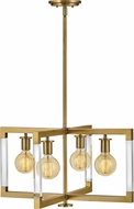 Hinkley 4684LCB Kellen Contemporary Lacquered Brass Lighting Chandelier