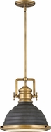 Hinkley 4697HB-DZ Keating Vintage Heritage Brass with Aged Zinc Hanging Pendant Light