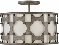 Hinkley 4733WBZ Carter Contemporary Weathered Bronze Ceiling Light Fixture