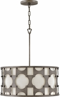 Hinkley 4735WBZ Carter Contemporary Weathered Bronze 21  Drum Ceiling Pendant Light