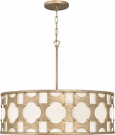 Hinkley 4736BNG Carter Contemporary Burnished Gold 28.5  Drum Hanging Light