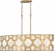 Hinkley 4738BNG Carter Modern Burnished Gold Kitchen Island Light Fixture