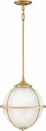 Hinkley 4744SA Odeon Contemporary Satin Brass Hanging Pendant Lighting
