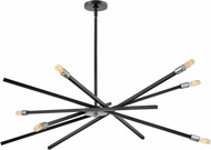 Hinkley 4766SK Archer Modern Satin Black / Brushed Nickel Chandelier Light