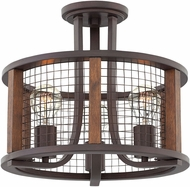 Hinkley 4823IR Beckett Contemporary Iron Rust Flush Mount Ceiling Light Fixture