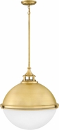 Hinkley 4836SA Fletcher Modern Satin Brass 22  Hanging Light Fixture
