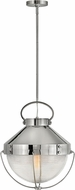 Hinkley 4844PN Crew Vintage Polished Nickel Hanging Light Fixture