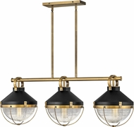Hinkley 4846HB Crew Retro Heritage Brass Island Light Fixture