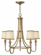 Hinkley 4875BR Morgan Transitional 27 Inch Diameter 5 Lamp Brushed Bronze Chandelier