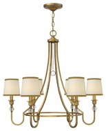 Hinkley 4876BR Morgan Medium 6 Lamp Brushed Bronze Hanging Chandelier - 30 Inch Diameter