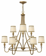 Hinkley 4878BR Morgan Large Transitional 35 Inch Diameter Ceiling Chandelier