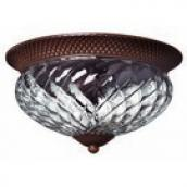 Hinkley 4881CB Plantation 3 Light Tropical Outdoor Flushmount Ceiling Fixture