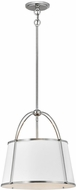 Hinkley 4894PN Clarke Modern Polished Nickel Hanging Lamp
